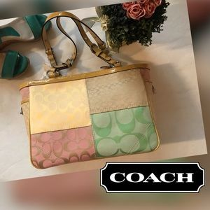 🆕COACH PCD Signature Patchwork Multi-Color Tote